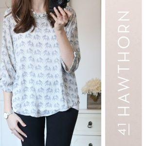 41 HAWTHORN Ellie Blouse 3/4 Sleeves Stitch Fix M